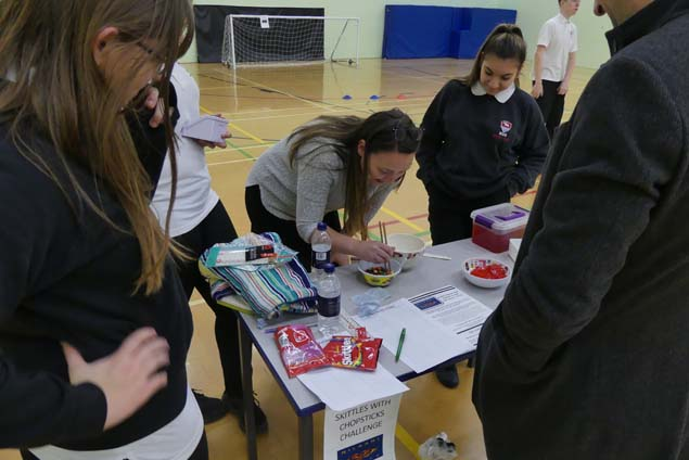 Staff from financial services firm, Hargreaves Lansdown, support fundraising at Bedminster Down School