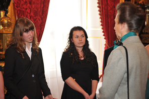 Amber and her team meet Princess Anne at the Hearing Unheard Voices award ceremony at St James Palace