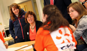 Paralympian Natasha Baker meets the Envision students