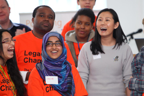 Students and corporate mentors meet for the first time at the Legacy Champions launch event
